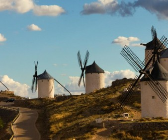 Spain Famous Windmills in Countryside