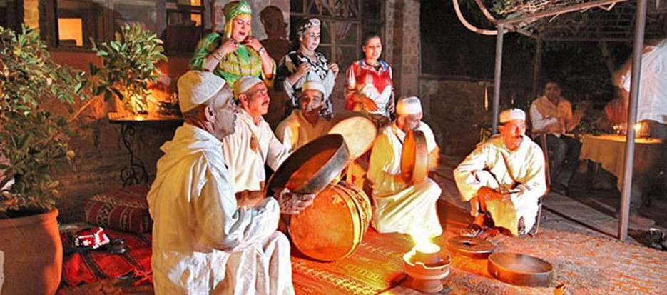Morocco Ourika Valley Berber Musicians